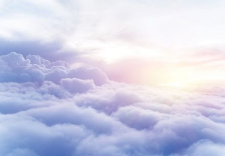 Clouds - blue sky Wall mural wallpaper